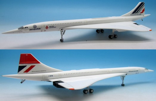 Dual livery Concorde Air France British Airways 1970's Reg# F-WTSB JFOX/ InFlight JFI-CONC-004 Scale 1:200