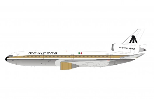 """Mexicana McDonnell Douglas DC-10-15 polished N1003L """"Azteca"""" with stand IFDC10MX0821P scale 1:200"""