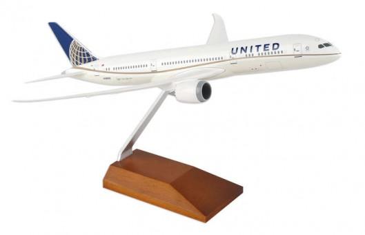 United Boeing 787-9 Dreamliner W/Wooden Stand Skymarks SKR5066 Scale 1:200