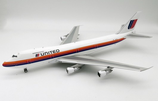 United Airlines Boeing 747-100 N4724U Saul Bass rainbow livery InFlight IF741UA0819 scale 1:200