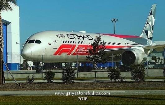 Etihad Boeing 787-9 F1 Grand Prix Livery A6-BLV EW4789002 Scale 1:400