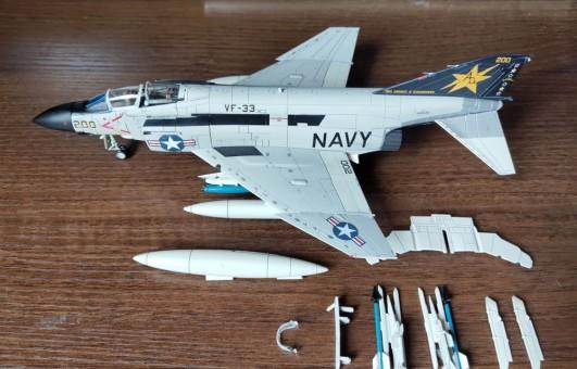 "F-4D Phantom II 155532 ""CAG BIRD"" VF-33 USS Dwight D.Eisenhower AC1011 scale 1:72"