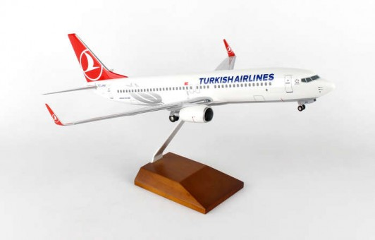 Turkish Airlines 737-800 Gear and Stand Skymarks Supreme SKR8257 Scale 1:100
