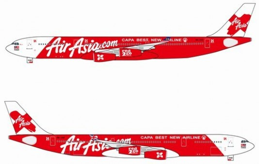 "Air Asia A340-300 ""CAPA BEST NEW AIRLINE"""