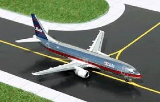US Air Polished Metal Boeing 737-400 Gemini Jets GJUSA458 scale 1:400