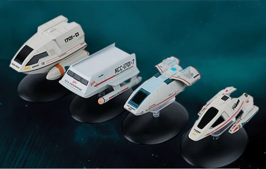 Shuttlecraft Collection Set of 4 Star Trek Universe EagleMoss Die-Cast EM-STSP99