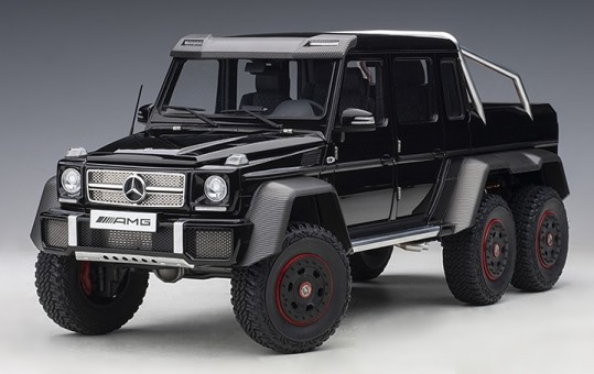 Glossy Black Mercedes Benz G63 AMG 6x6 Die-Cast AUTOart 76306 scale 1:18