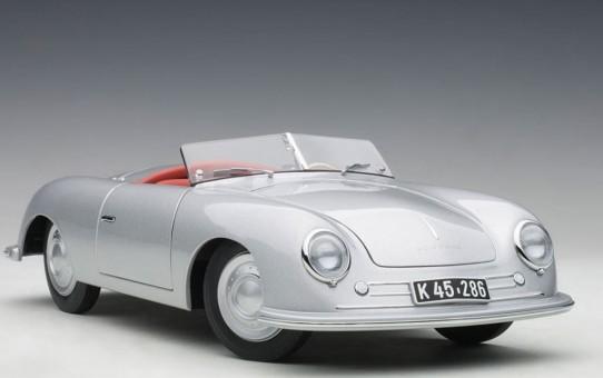 Porsche 356 Number 1 Silver die-cast model AUTOart 78072 scale 1:18