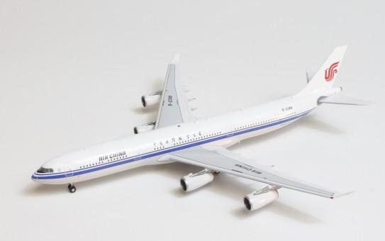 Air China Airbus A340-300 B-2389 AV4004 中国国际航空公司 with stand Aviation400 AV4004 scale 1:400