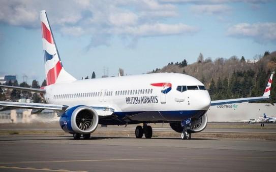 British Airways Boeing 737-8max ZS-ZCA Phoenix die-cast 04263 scale 1400