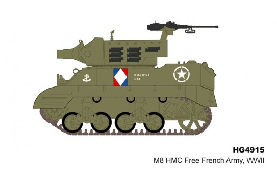 M8 HMC 88051 Free French Army WWII hobby Master HG4915 scale 1:72
