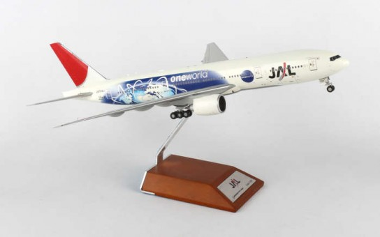 "JAL Boeing 777-200 Reg.: JA704J ""One World""  With Stand Scale 1:200"