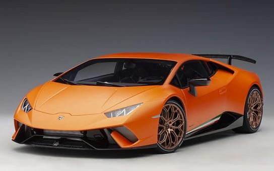 Orange Matt Lamborghini Huracan Performante Arancio Anthaeus AUTOart 12076 Scale 1:12