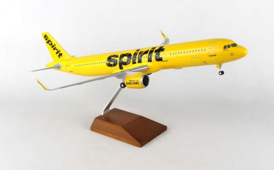 Spirit Airbus A321 Neo Wood Stand & Gear SKR8406 Skymarks Supreme Large Scale 1:100