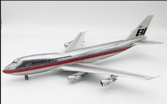 Braniff International Airways Boeing 747-100 N9666 Polished InFlight IF741BN1218P scale 1:200