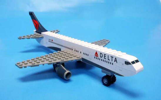 55 Piece Delta Airplane Jet and Action Figure BL444 by Best-Lock Lego-Compatible