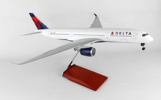 Delta Airbus A350 Wood Stand & Gears Skymarks Supreme SKR8803 Scale 1:100