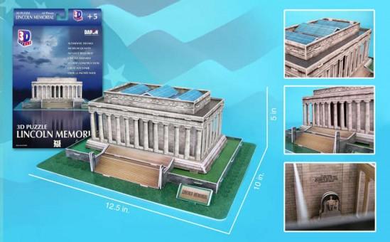Lincoln Memorial 3D Puzzle 42 Pieces