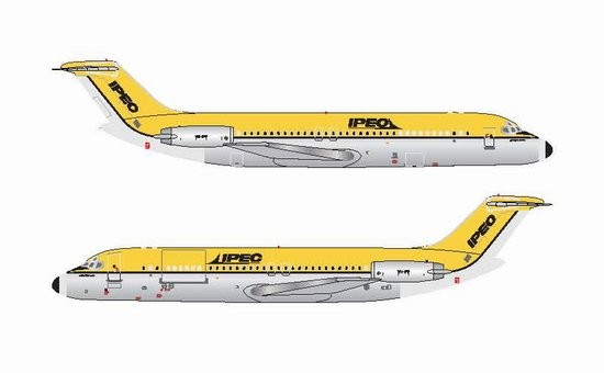 1/400 IPEC - Independent Air Freighter of Australia DC-9-30  (Polished)