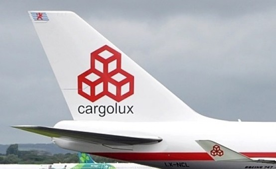 Cargolux Retro livery Boeing 747-400 LX-NCL with stand JC Wings JC2CLX0051C scale 1:200