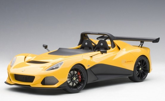 Green Lotus 3-Eleven with yellow accents AUTOart 75393 die-cast scale 1:18