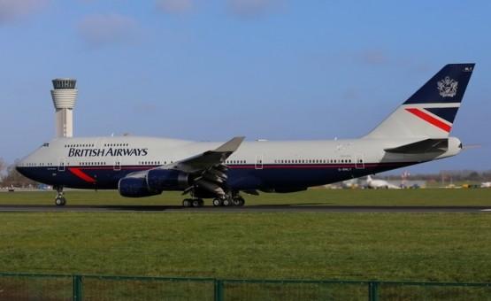 British Airways Landor Retro Boeing 747-400 100's Years G-BNLY Phoenix 04266 scale 1:400