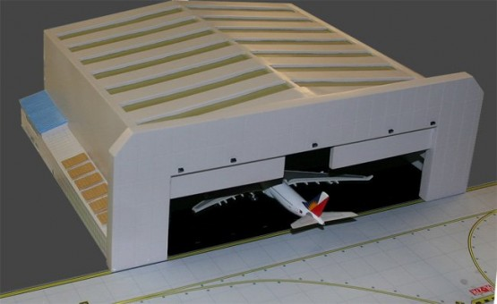 New and Improved Widebody Aircraft Hanger GJWBHGR2 GeminiJets scale 1:400