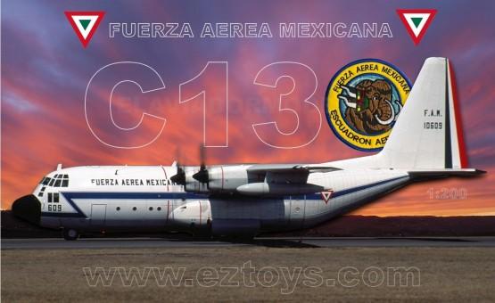Mexican Air Force FAM C-130A Hercules 609 10609 Fuerza Aerea Mexicana with stand El Aviador/Inflight EAV10609 scale 1:200