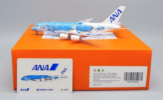 "ANA All Nippon ""Lani"" Blue Turtle Airbus A380-800 JA381A  Flying Honu JC wings EW4388006 die-cast scale 1:400"