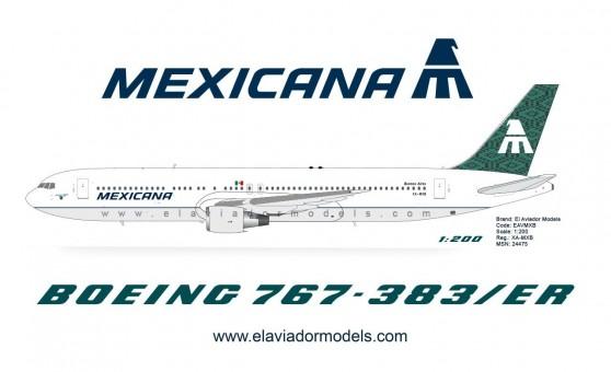 """Mexicana Boeing 767-300ER XA-MXB """"Buenos Aires"""" die-cast by El Aviador/InFlight EAVMXB scale 1:200"""