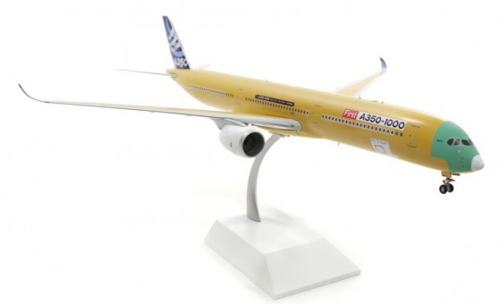 Airbus A350-1000 Bare Metal F-WMIL stand JC Wings LH2AIR088 scale 1:200