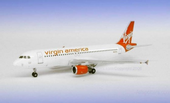 Rare! Virgin America A320 N625VA 1:400 Scale