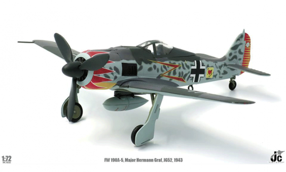 Luftwaffe FW 190a-5 Maj. Hermann Graf Southern France 1943 JC Wings JCW-72-FW190-001 Scale 1:72