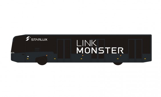 Starlux Airport Bus Black GSE by Panda model 202001 scale 1:400