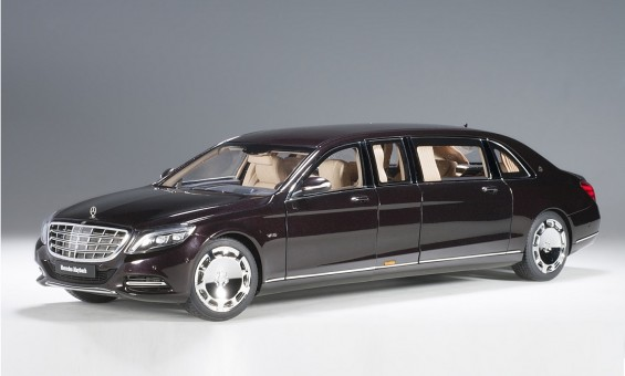 Dark metallic Red Maybach Mercedes S600 Pullman die-cast AUTOart 76299 scale 1:18