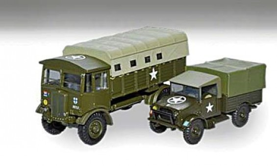 AEC Matador Tractor & Bedford MWD 2-Piece Set 1:76 Scale Oxford
