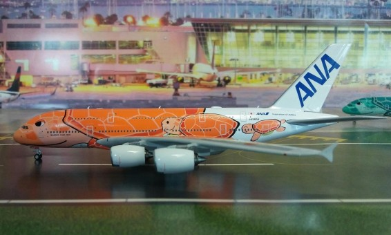 ANA Airbus A380 Sea Turtle Orange Ka La JA383A Phoenix 04211 scale 1:400