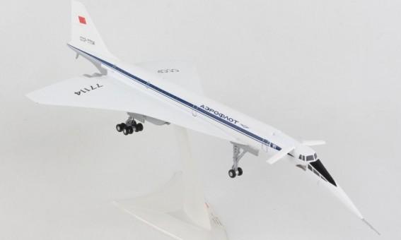 Aeroflot TU-144D Tupolev Аэрофлот CCCP-77114 Die-Cast Herpa 570633 scale 1:200