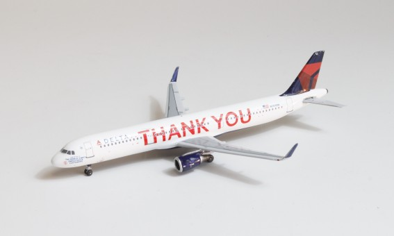 """Delta Airbus A321 N391DN """"Thank You"""" Bluebox scale 1:400"""
