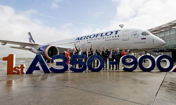 Flaps down Aeroflot Airbus A350-900 VQ-BFY Аэрофлот JC Wings JC2AFL430A scale 1200