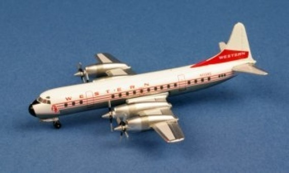 Extremely Limited Western Airlines L-188 Electra N7139C Scale 1:400