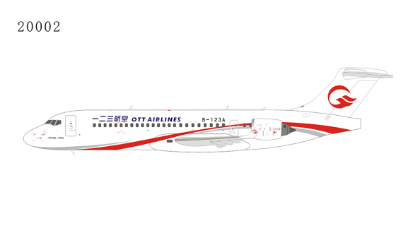 New Mould! One Two Three OTT Airlines Comac ARJ21-700 B-123A 一二三航空公司 NG Models 20002 scale 1:200