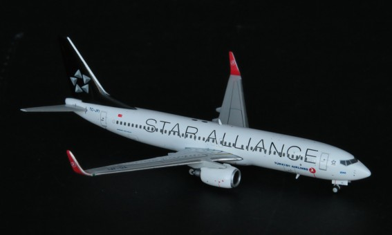 Turkish Airlines B737-800 TC-JFI Star Alliance JC4THY943 With Antennas JC Wings 1:400