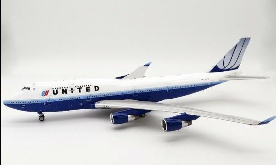 United Airlines Boeing 747-400 N171UA Blue Tulip InFlight IF744UA0119 scale 1:200
