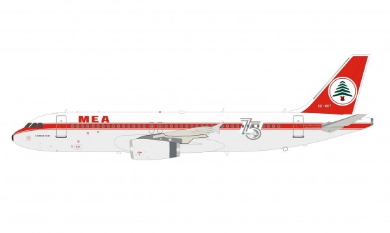 MEA Middle Eastern Airlines Airbus A320 75th Anniversary OD-MRT stand InFlight IF320ME0720 scale 1:200