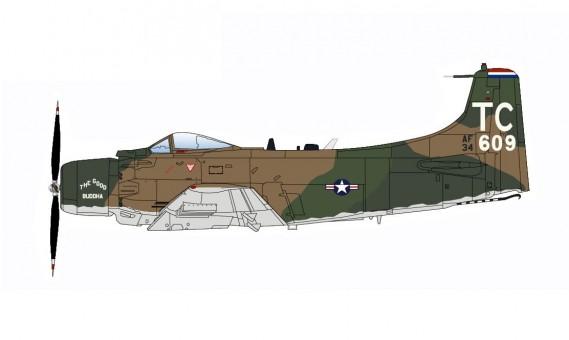 USA A-1H Skyraider 1st SOS 56th SOW Nakhon Phanom 1968 Hobby Master HA2915 scale 1:72