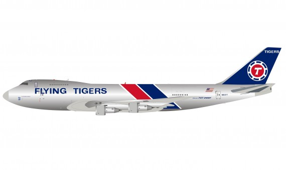 Flying Tigers Boeing 747-200 N810FT polished InFlight IF742FT0620P scale 1:200