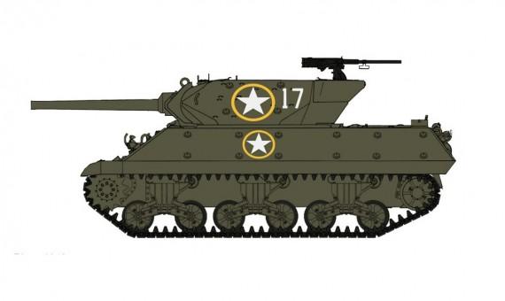 US Army Tank Destroyer M10 Achilles 601st Tank Destroyer Bttn Volturno River 1943 Hobby Master HG3423 scale 1:72