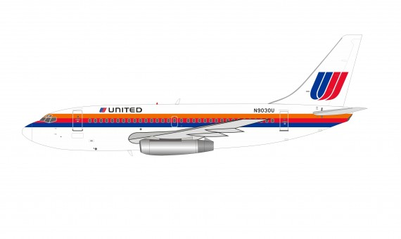 United Airlines Boeing 737-222 N9030U tulip rainbow livery InFlight with stand IF732UA0620 scale 1:200