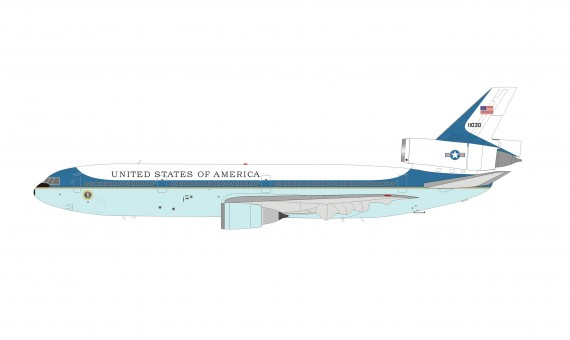 US Air Force One DC-10 McDonnell Douglas C-10 proposed presidential Raymond Loewy livery 11030 tail number InFlight IFDC10AF1 scale 1:200
